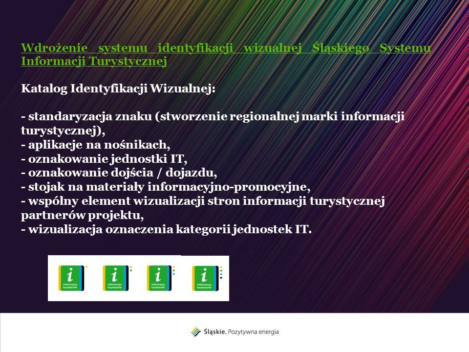 Wdrożenie systemu identyfikacji wizualnej Śląskiego Systemu Informacji Turystycznej