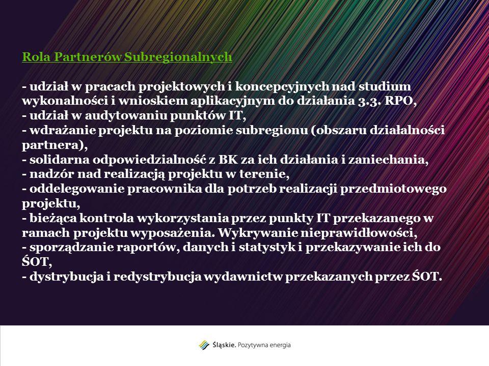 Rola Partnerów Subregionalnych