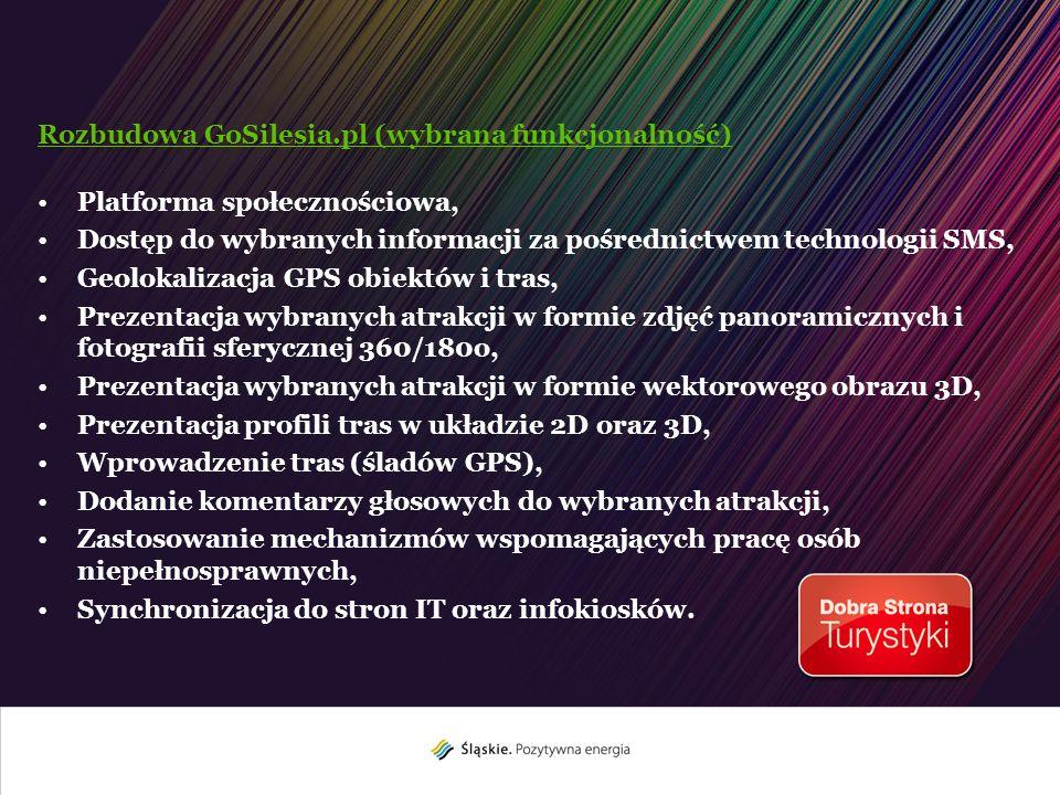 Rozbudowa GoSilesia.pl (wybrana funkcjonalność)
