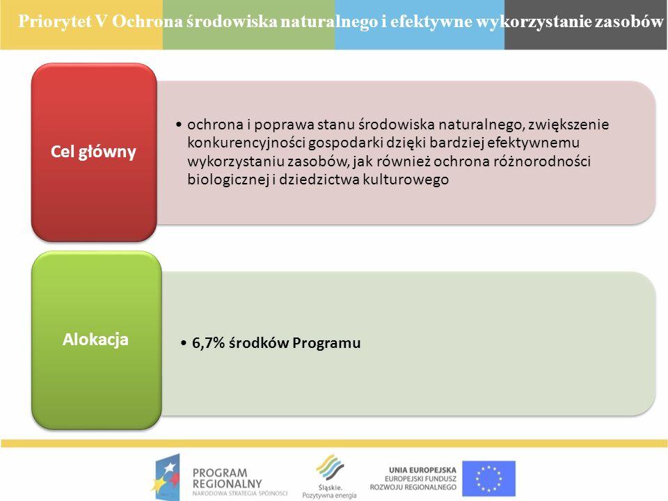 Priorytet V Ochrona środowiska naturalnego i efektywne wykorzystanie zasobów
