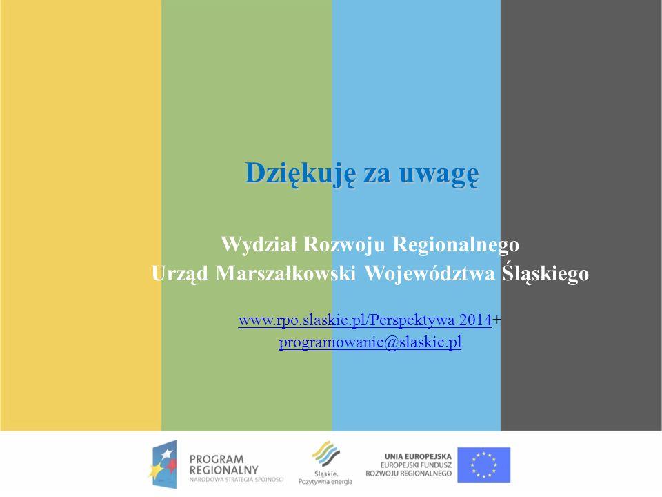 Wydział Rozwoju Regionalnego Urząd Marszałkowski Województwa Śląskiego