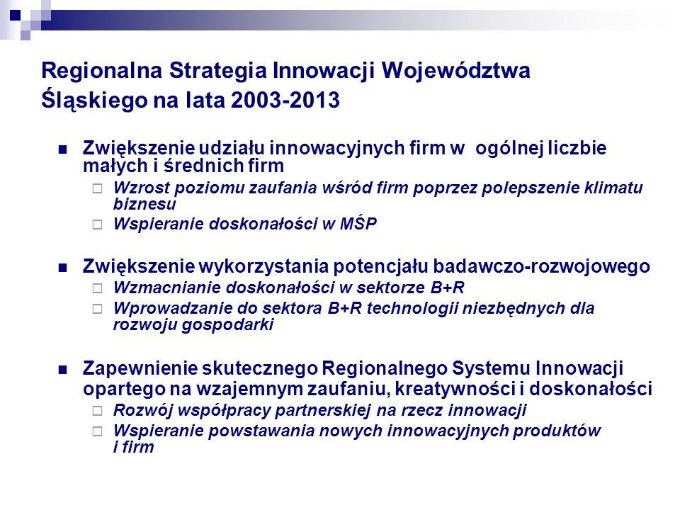 Regionalna Strategia Innowacji Województwa Śląskiego na lata 2003-2013