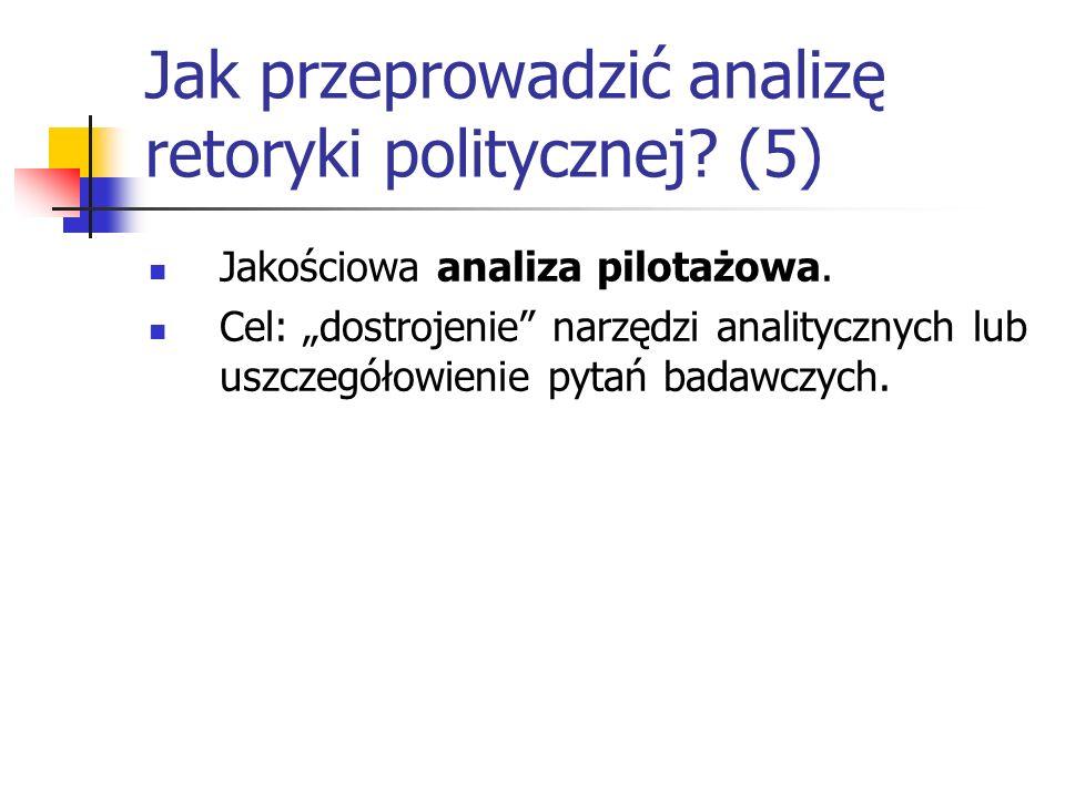 Jak przeprowadzić analizę retoryki politycznej (5)