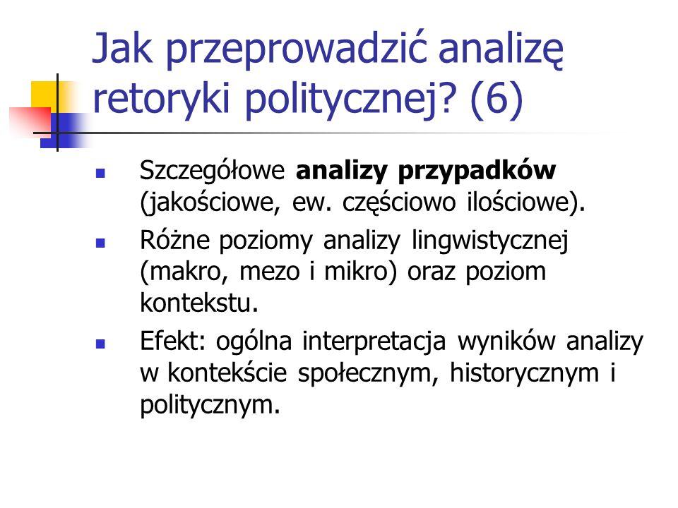 Jak przeprowadzić analizę retoryki politycznej (6)