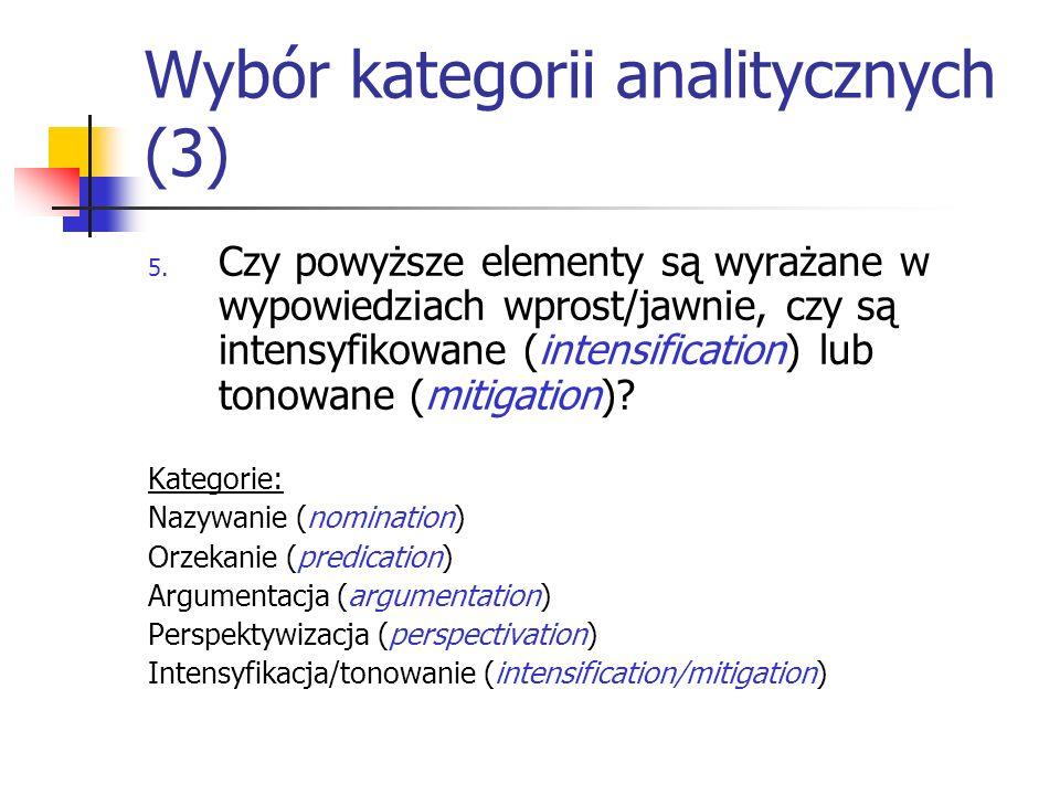 Wybór kategorii analitycznych (3)