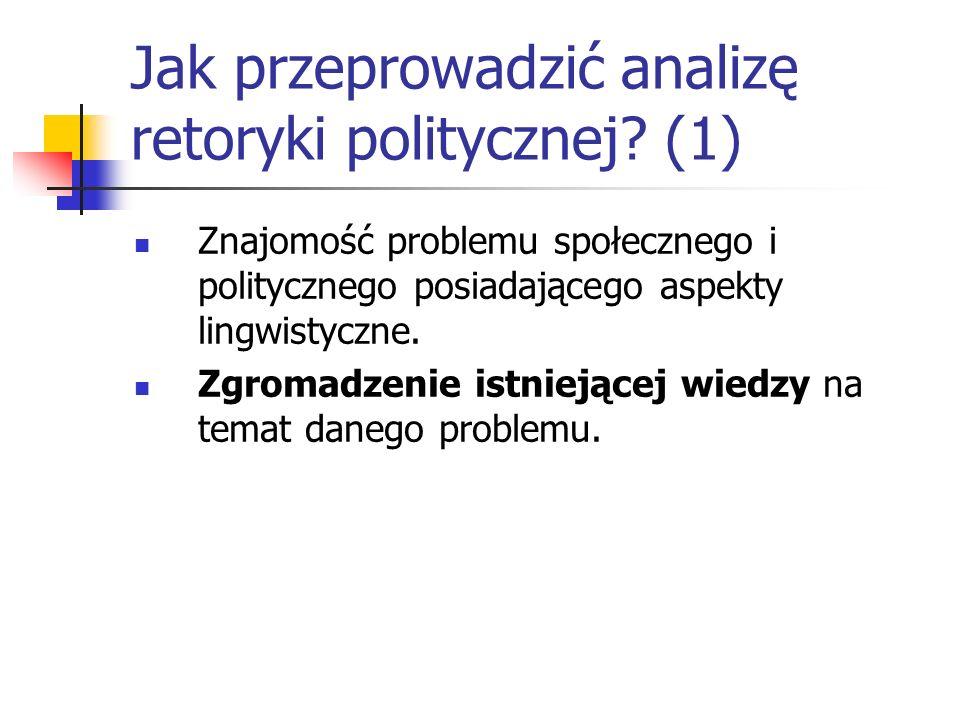 Jak przeprowadzić analizę retoryki politycznej (1)