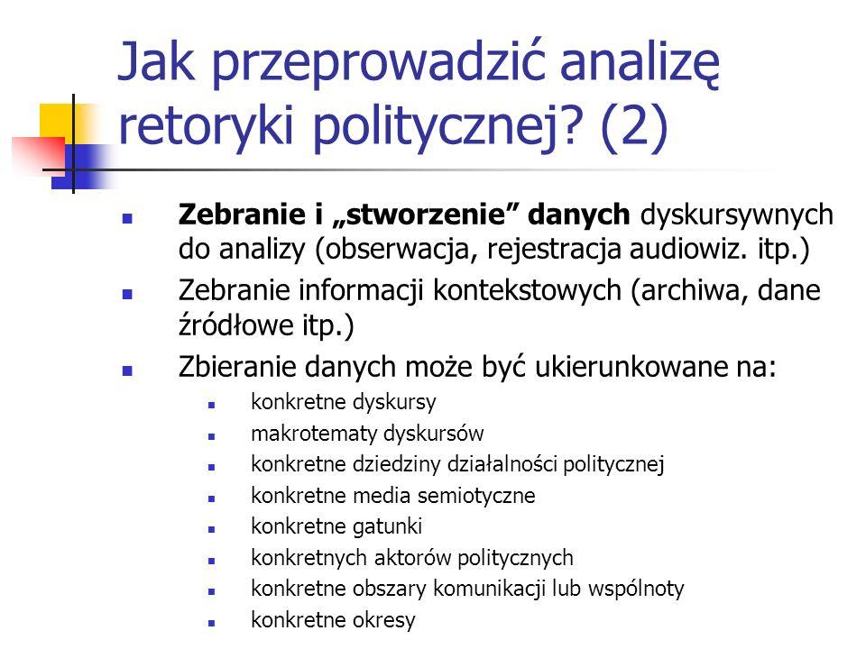 Jak przeprowadzić analizę retoryki politycznej (2)