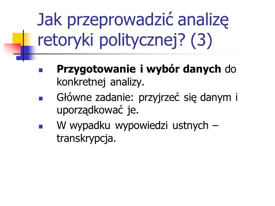 Jak przeprowadzić analizę retoryki politycznej (3)