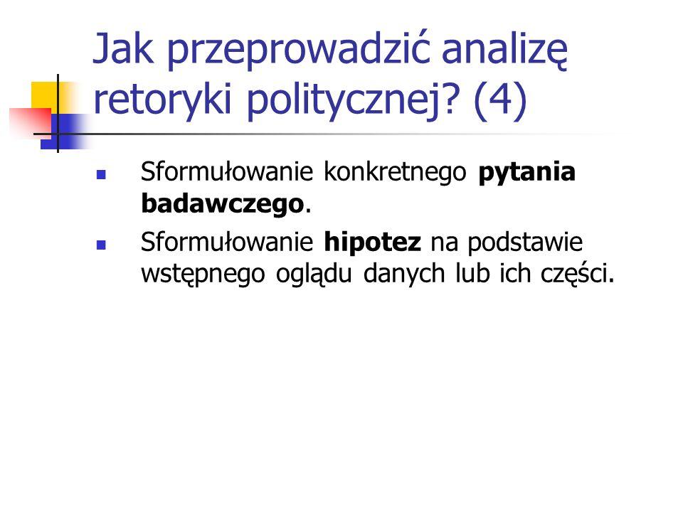 Jak przeprowadzić analizę retoryki politycznej (4)