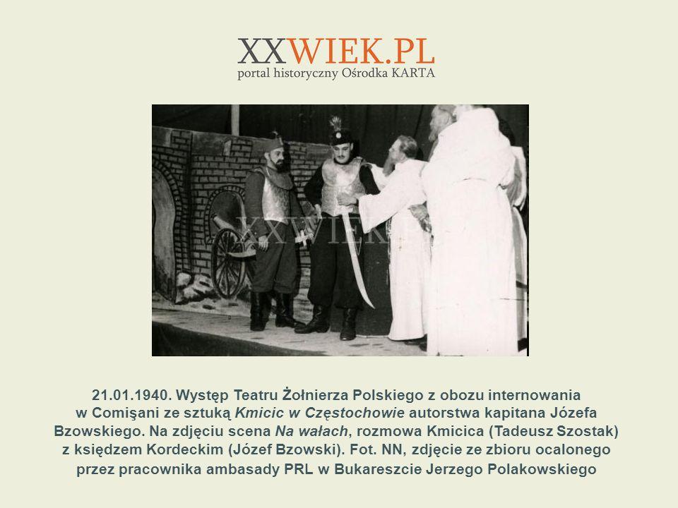 21.01.1940. Występ Teatru Żołnierza Polskiego z obozu internowania