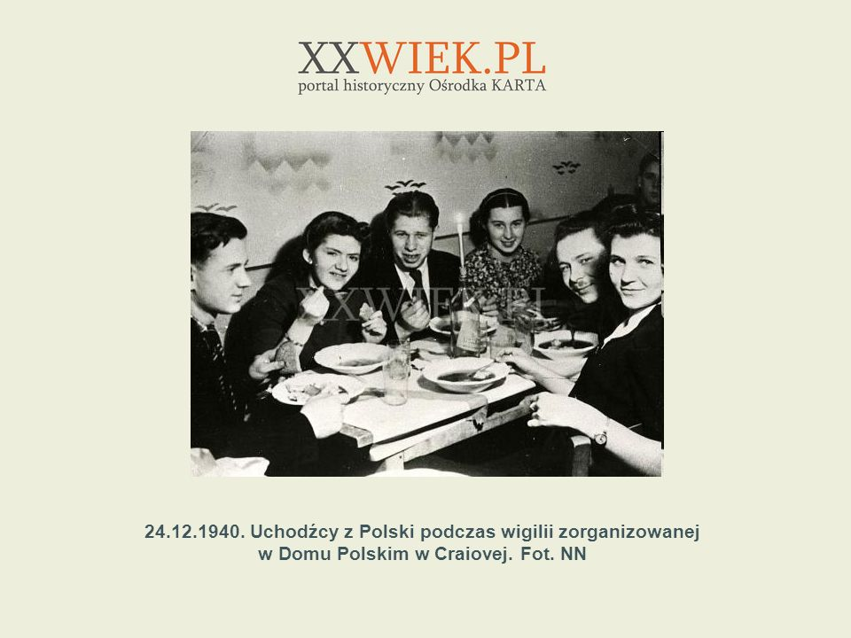 24.12.1940. Uchodźcy z Polski podczas wigilii zorganizowanej