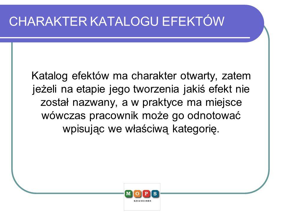 CHARAKTER KATALOGU EFEKTÓW