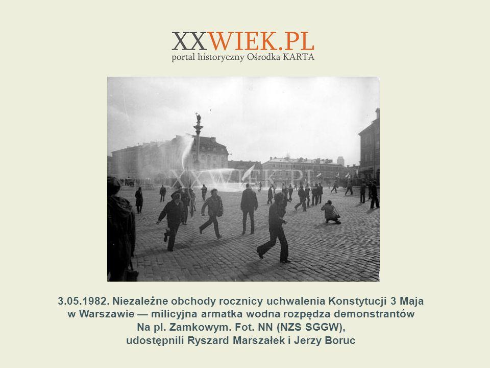 3.05.1982. Niezależne obchody rocznicy uchwalenia Konstytucji 3 Maja