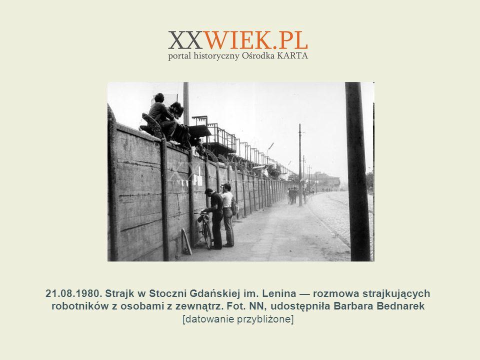 21. 08. 1980. Strajk w Stoczni Gdańskiej im