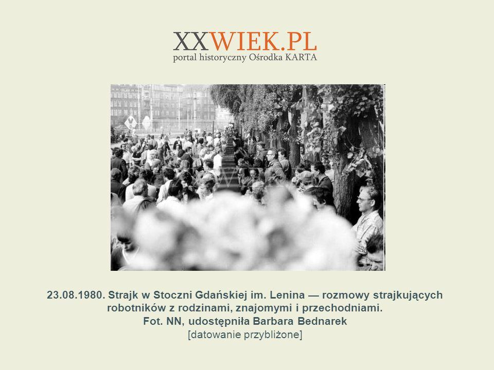 23. 08. 1980. Strajk w Stoczni Gdańskiej im