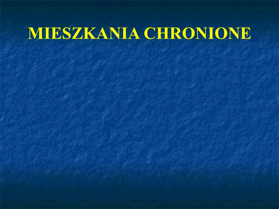 MIESZKANIA CHRONIONE