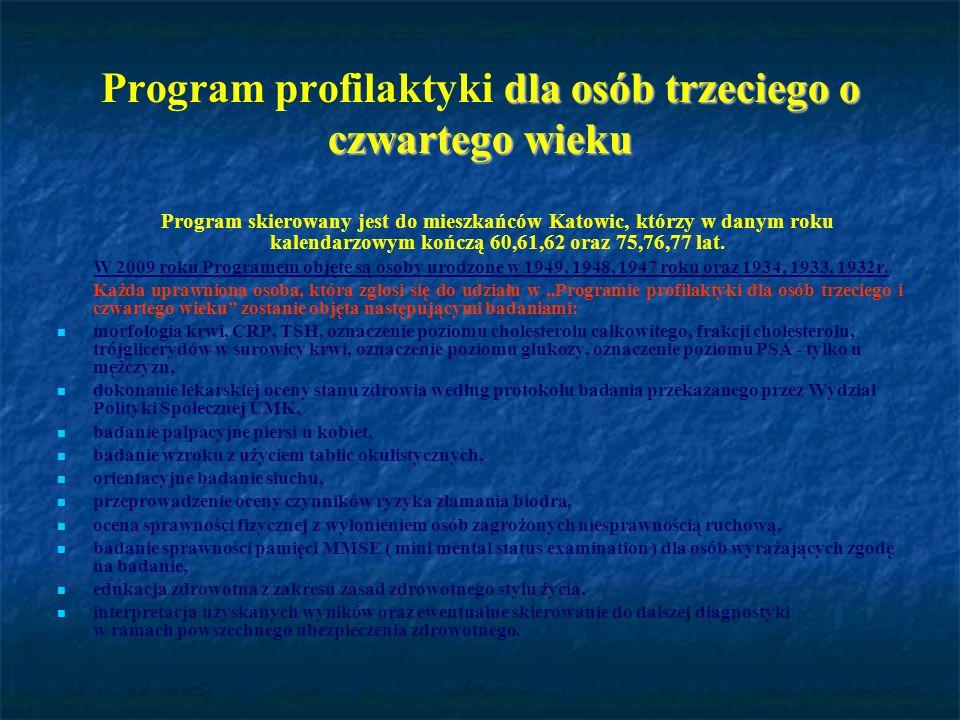 Program profilaktyki dla osób trzeciego o czwartego wieku