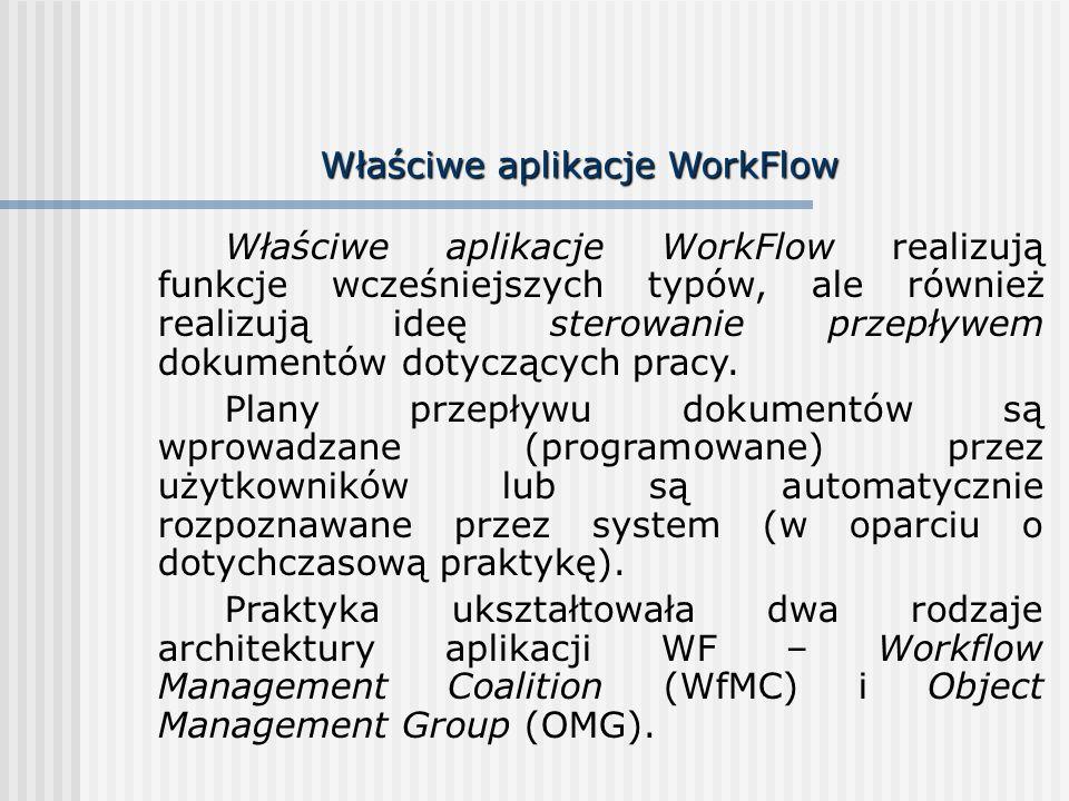 Właściwe aplikacje WorkFlow