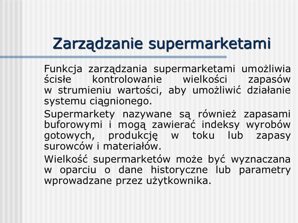 Zarządzanie supermarketami