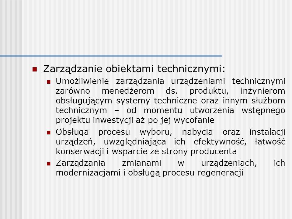 Zarządzanie obiektami technicznymi: