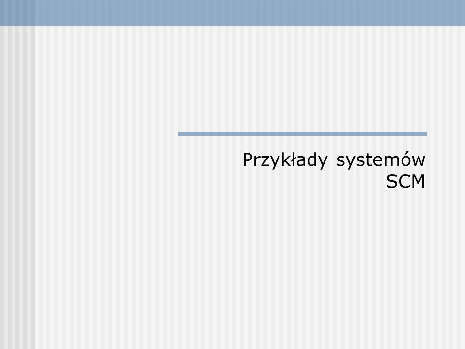 Przykłady systemów SCM