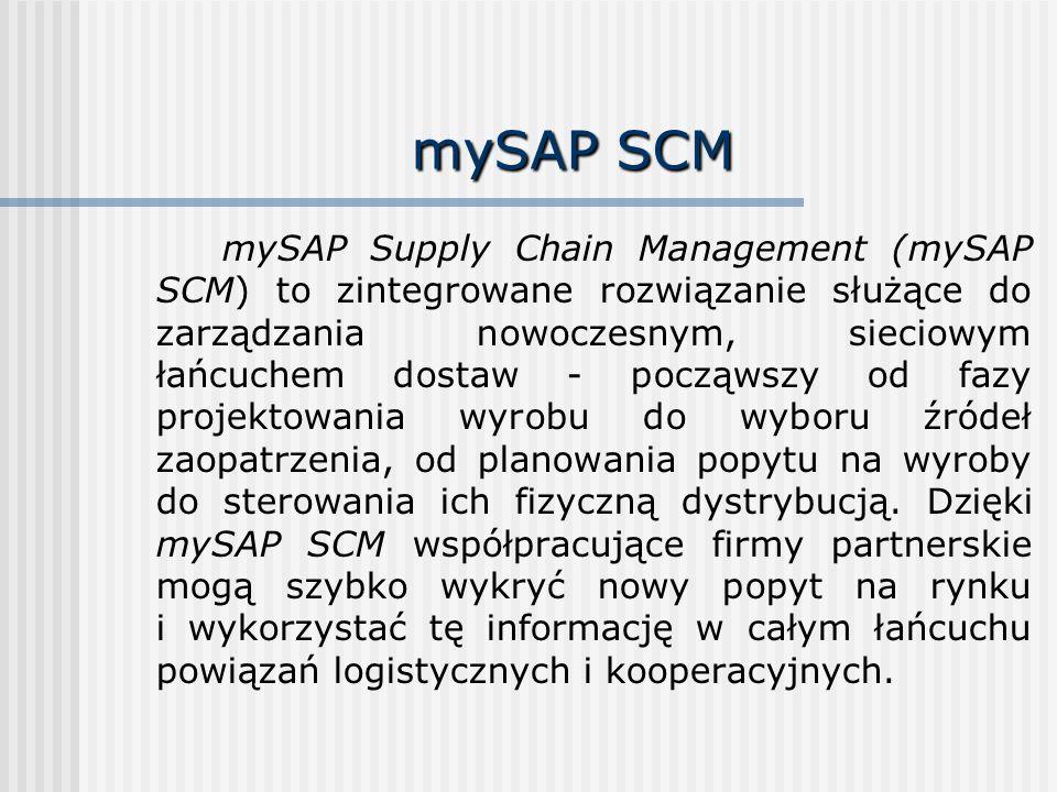 mySAP SCM