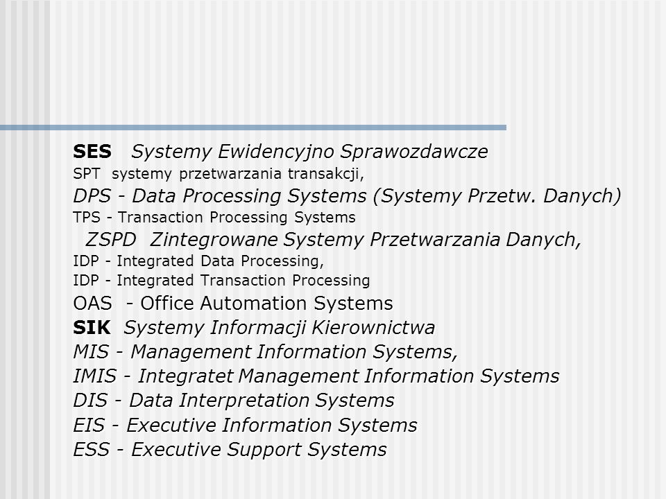 SES Systemy Ewidencyjno Sprawozdawcze