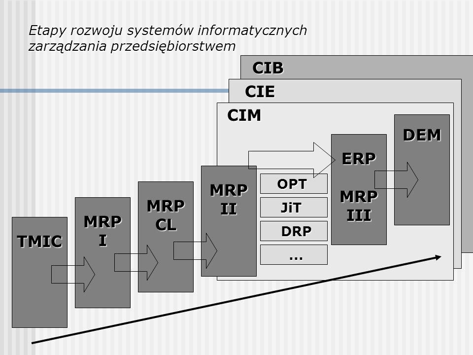 CIB CIE CIM DEM ERP MRP III MRP II MRP CL MRP I TMIC