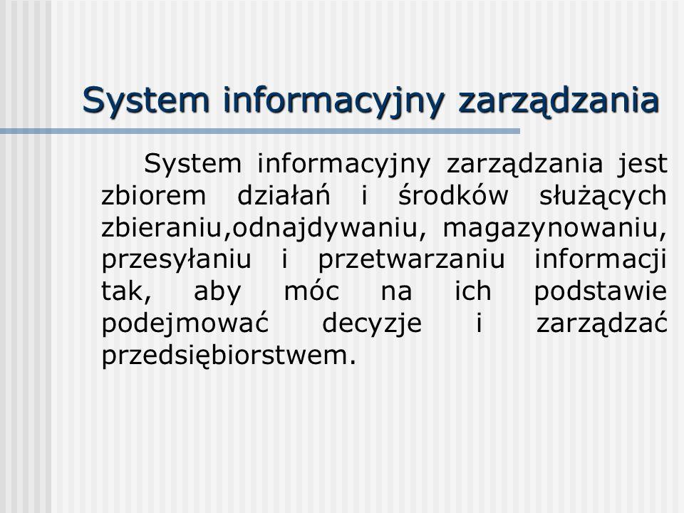 System informacyjny zarządzania