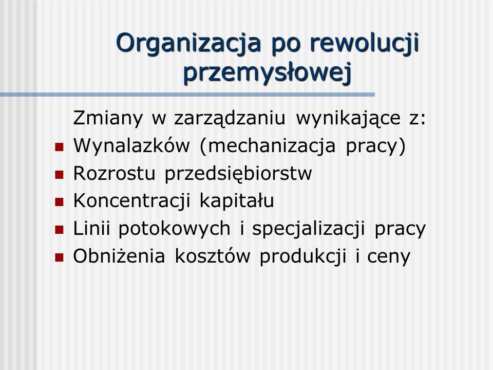 Organizacja po rewolucji przemysłowej