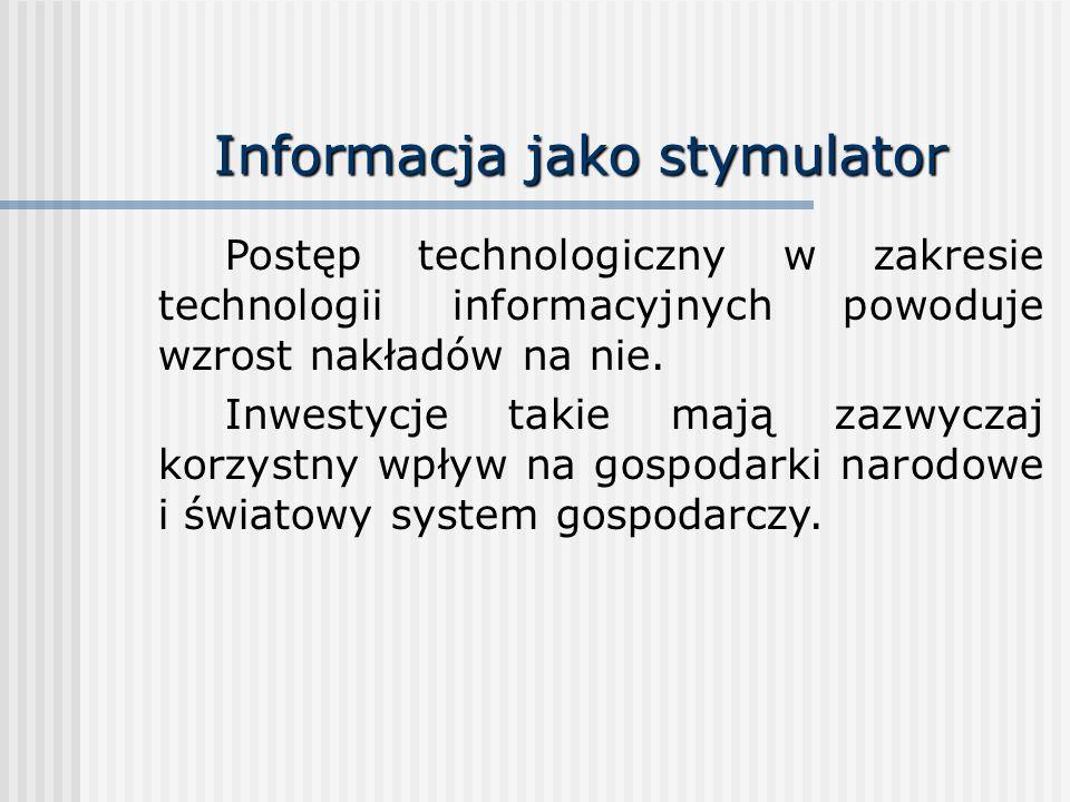 Informacja jako stymulator