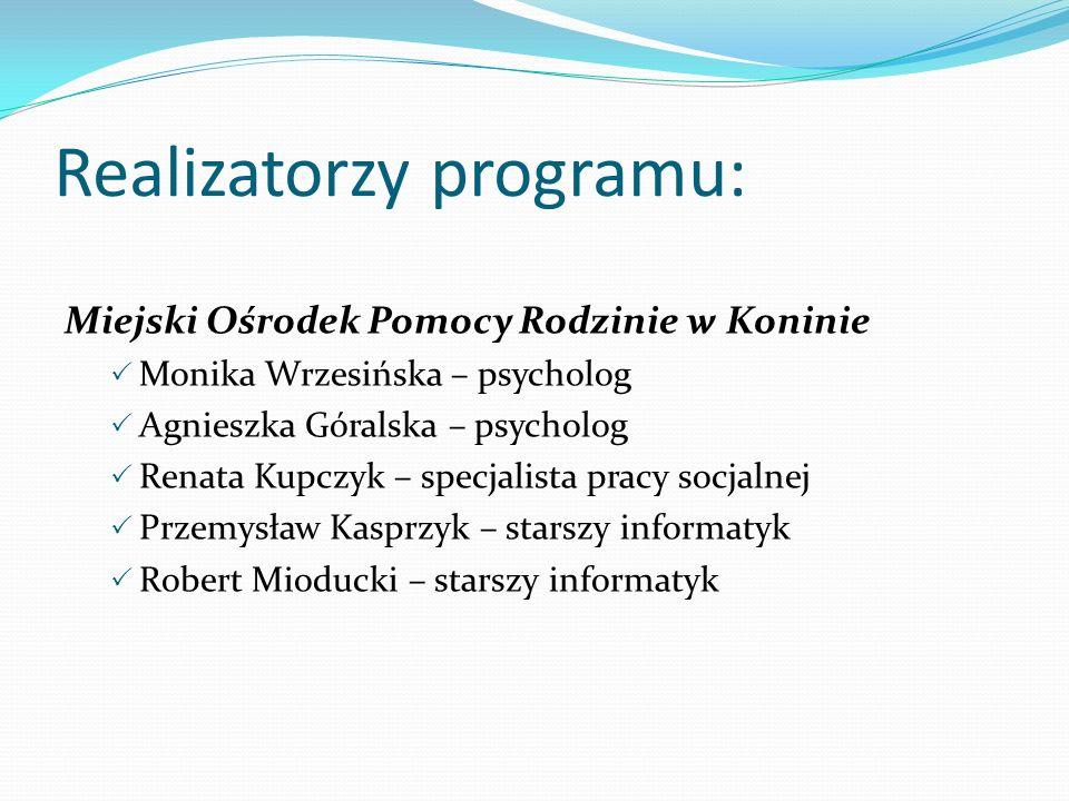 Realizatorzy programu: