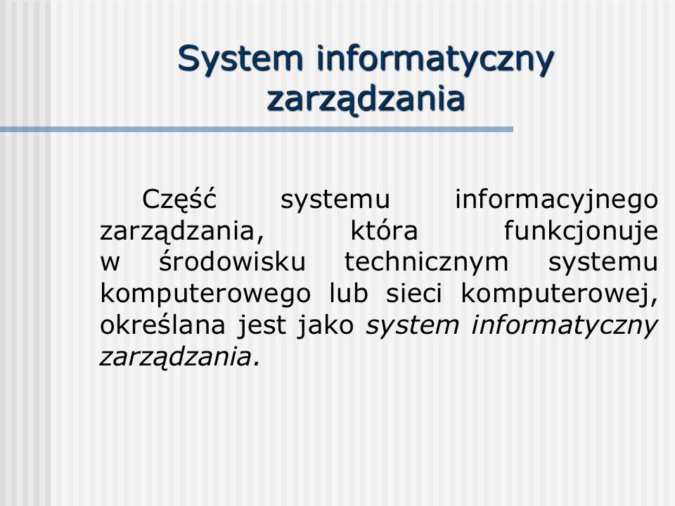 System informatyczny zarządzania