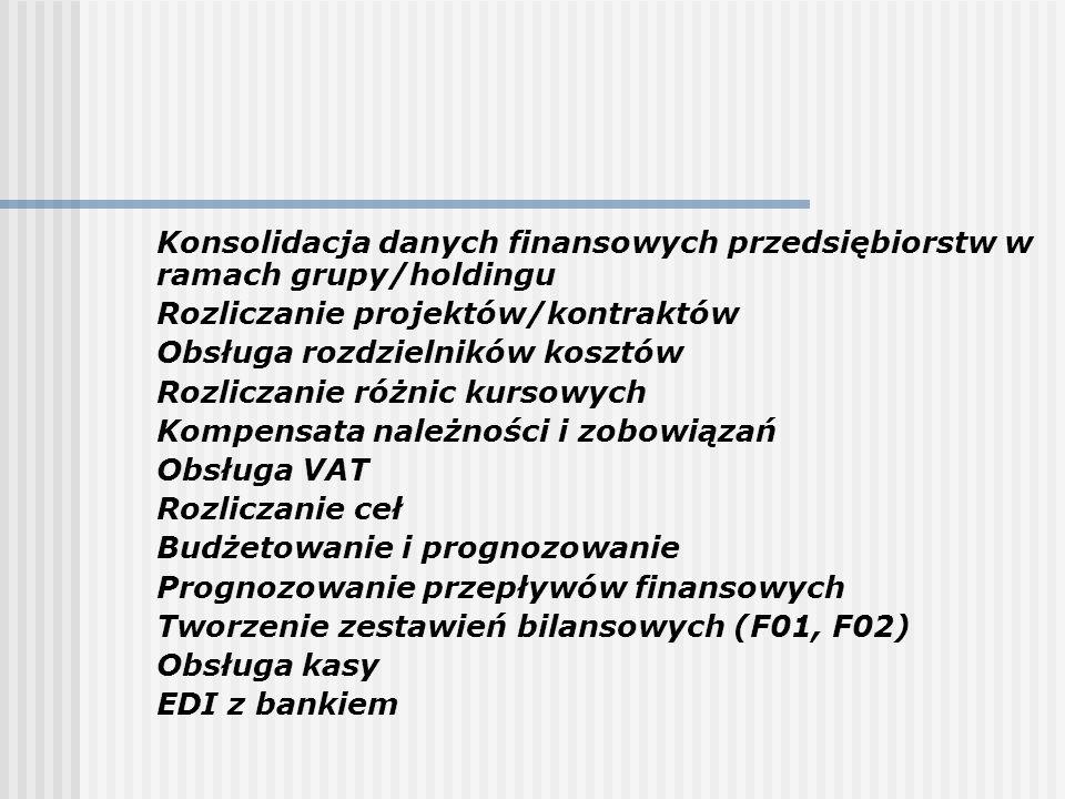 Konsolidacja danych finansowych przedsiębiorstw w ramach grupy/holdingu