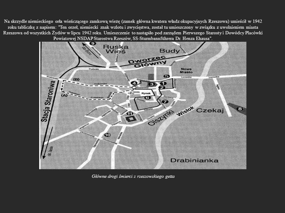 Główne drogi śmierci z rzeszowskiego getta