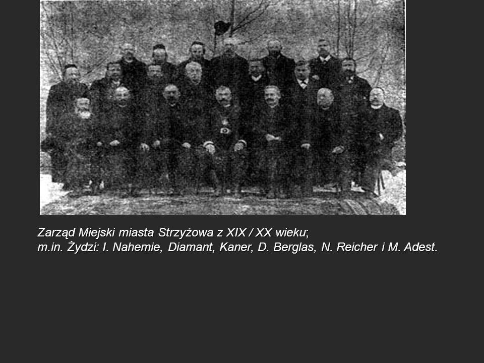 Zarząd Miejski miasta Strzyżowa z XIX / XX wieku; m. in. Żydzi: I