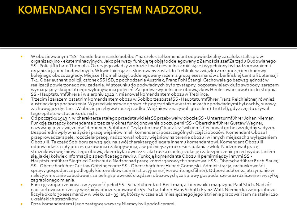 KOMENDANCI I SYSTEM NADZORU.