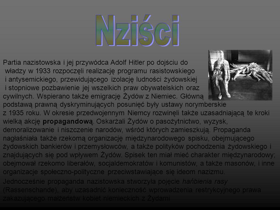 Nziści Partia nazistowska i jej przywódca Adolf Hitler po dojściu do