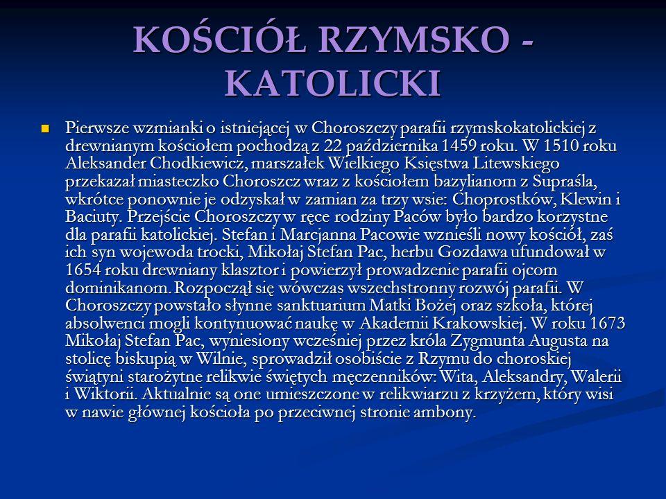 KOŚCIÓŁ RZYMSKO -KATOLICKI
