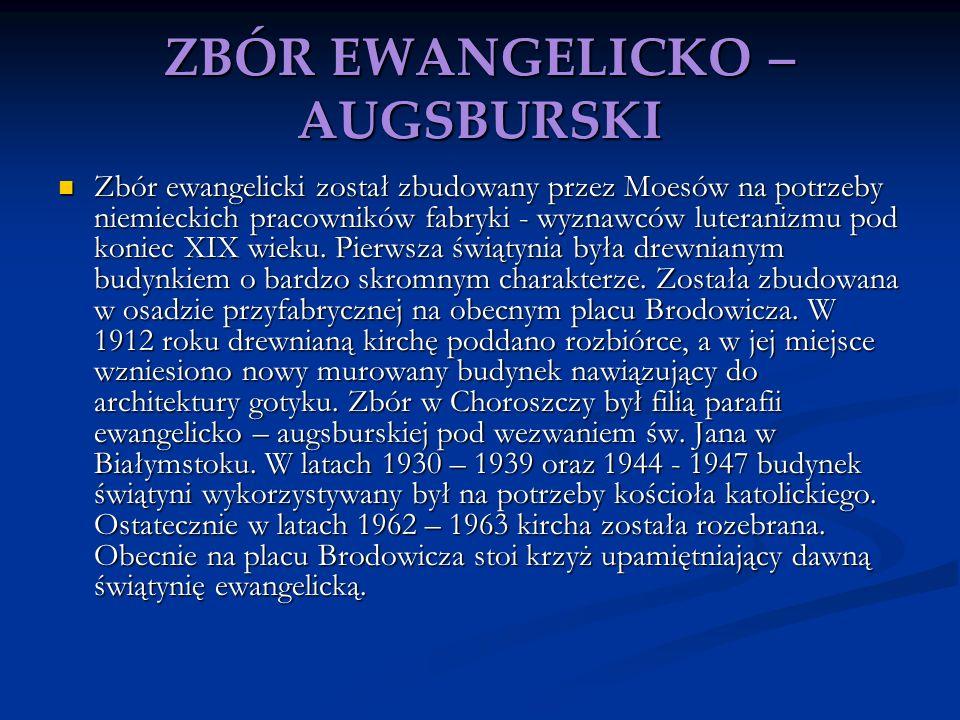ZBÓR EWANGELICKO – AUGSBURSKI