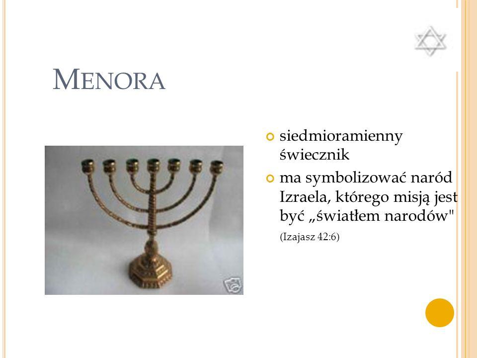 Menora siedmioramienny świecznik