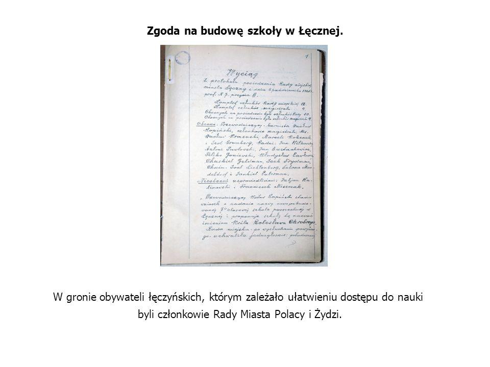 Zgoda na budowę szkoły w Łęcznej.