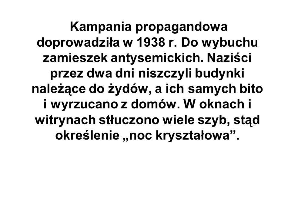 Kampania propagandowa doprowadziła w 1938 r