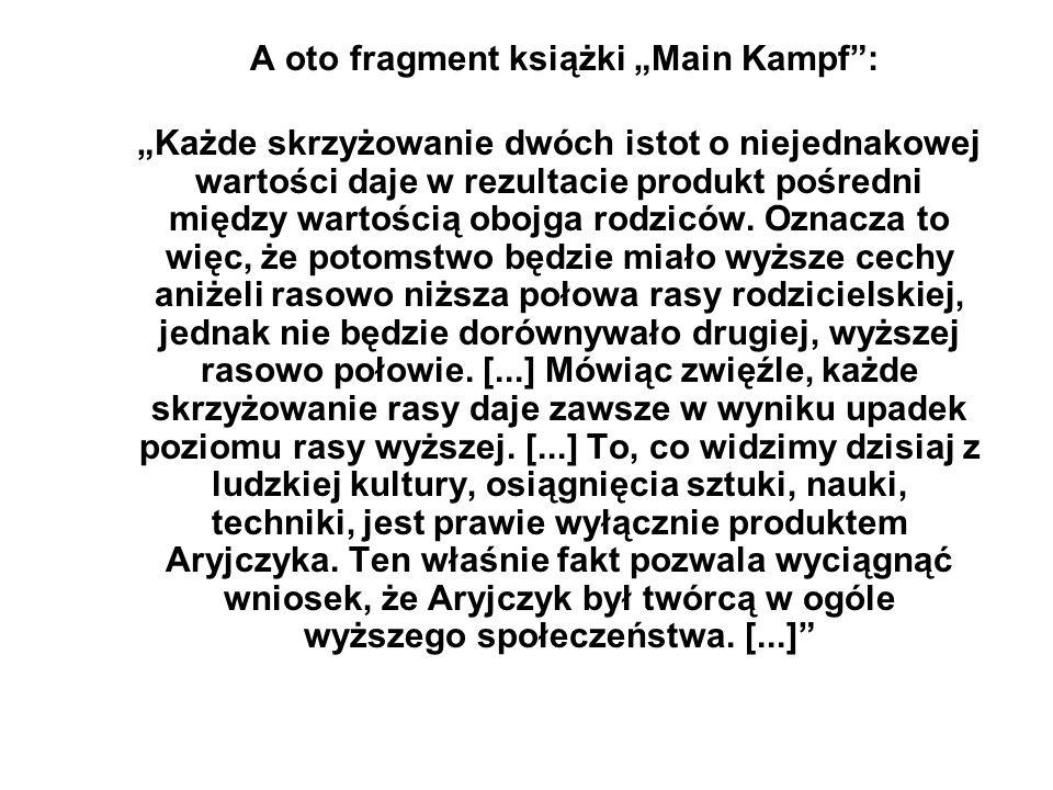 """A oto fragment książki """"Main Kampf :"""