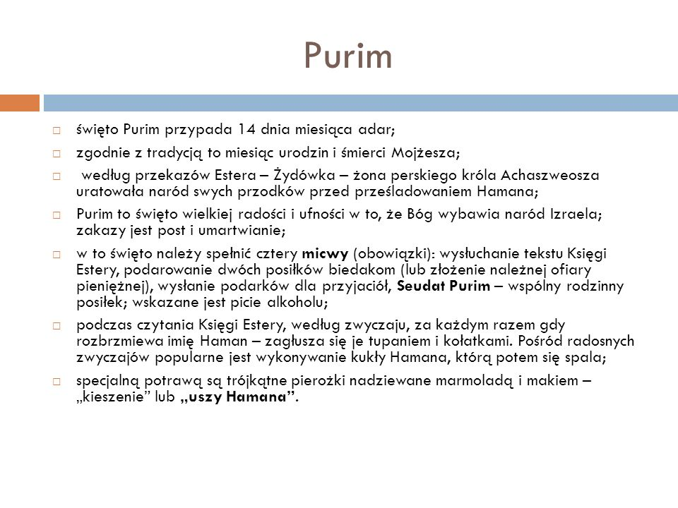 Purim święto Purim przypada 14 dnia miesiąca adar;