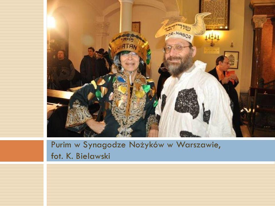 Purim w Synagodze Nożyków w Warszawie, fot. K. Bielawski