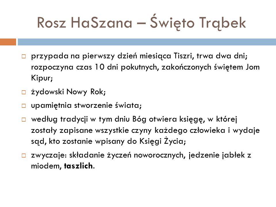 Rosz HaSzana – Święto Trąbek