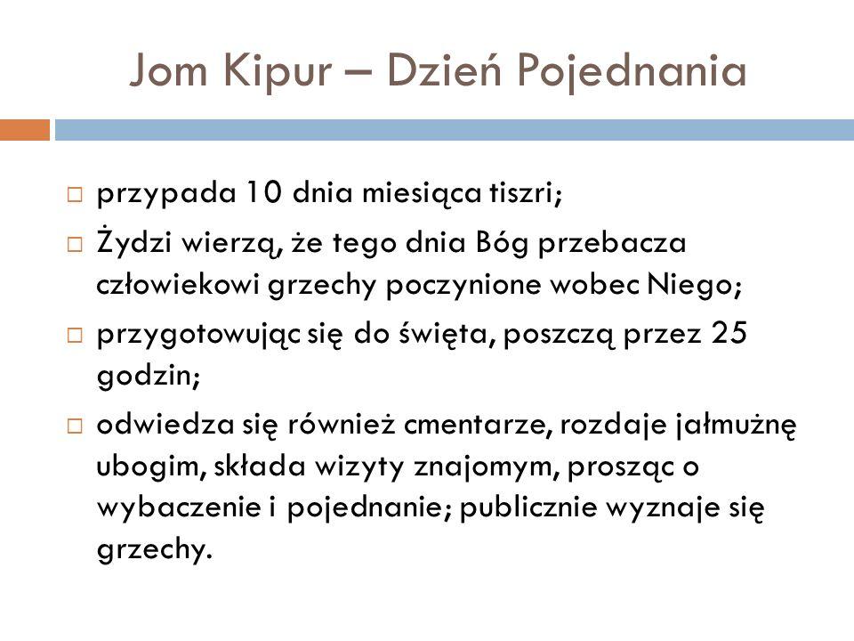 Jom Kipur – Dzień Pojednania