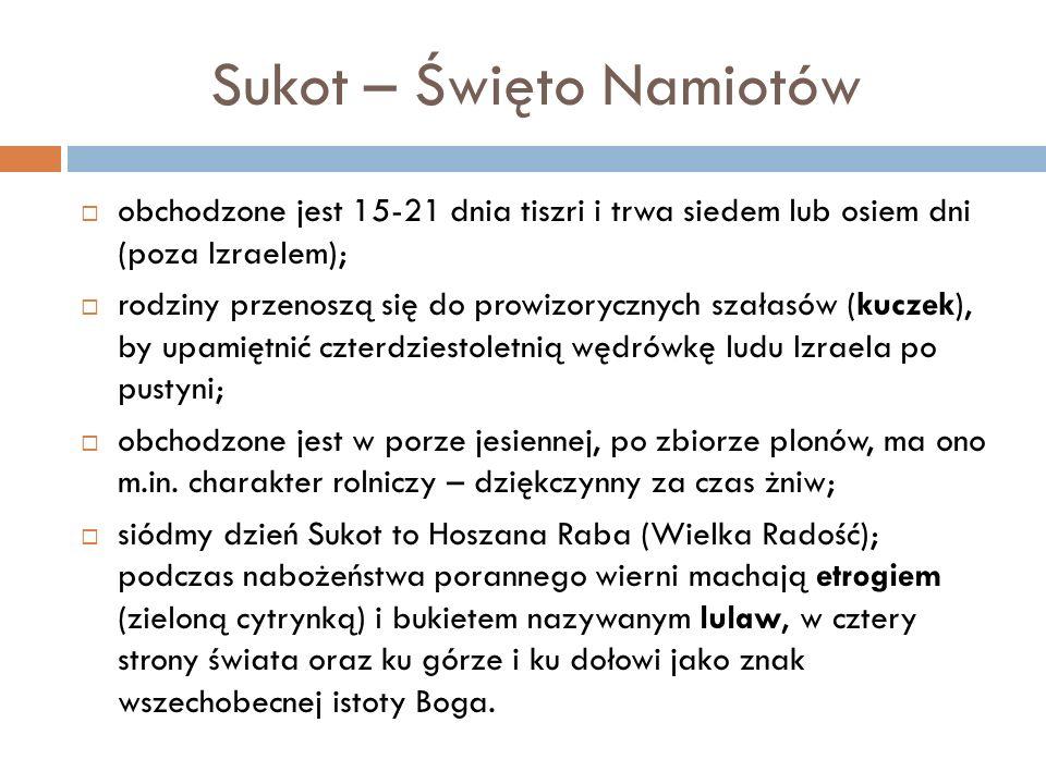 Sukot – Święto Namiotów