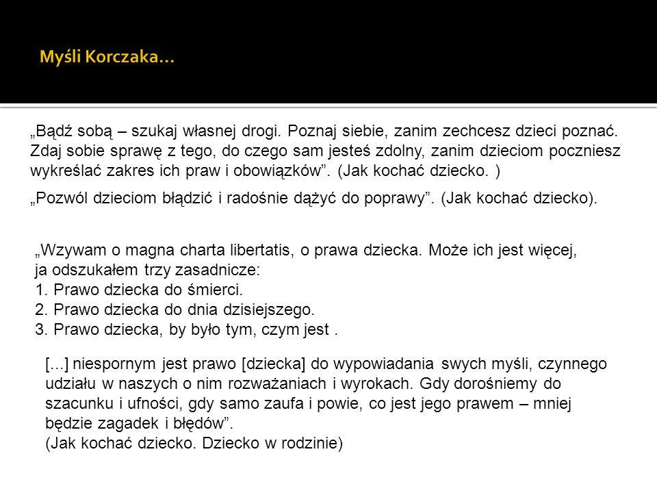 Myśli Korczaka…